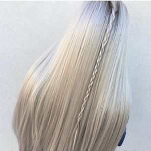 New Blonde Brown Ombre Heavy Long Heavy Hair Wig